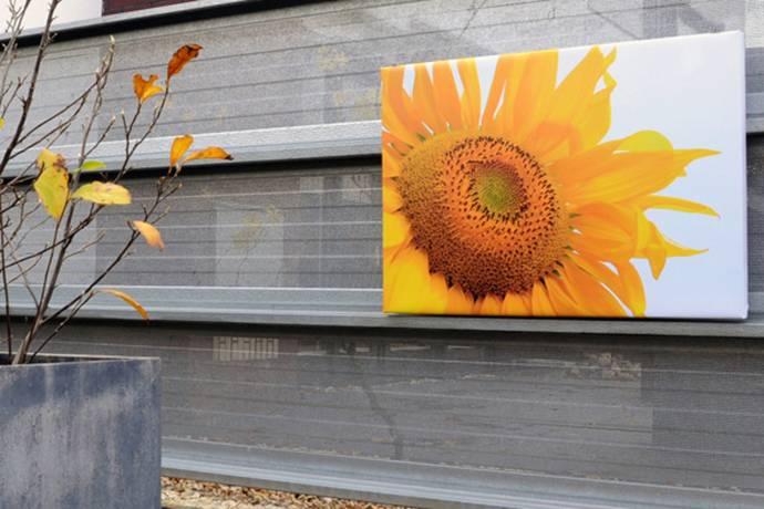 Tuinposter op dik frame